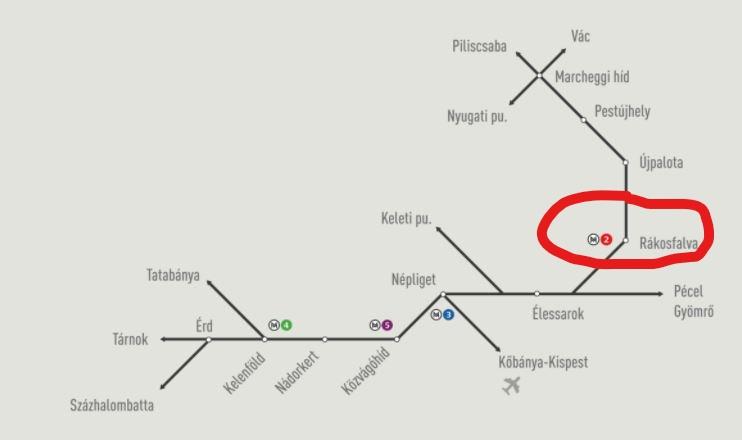 Vasúti megálló a Füredi utcai lakótelepnél: Rákosfalva